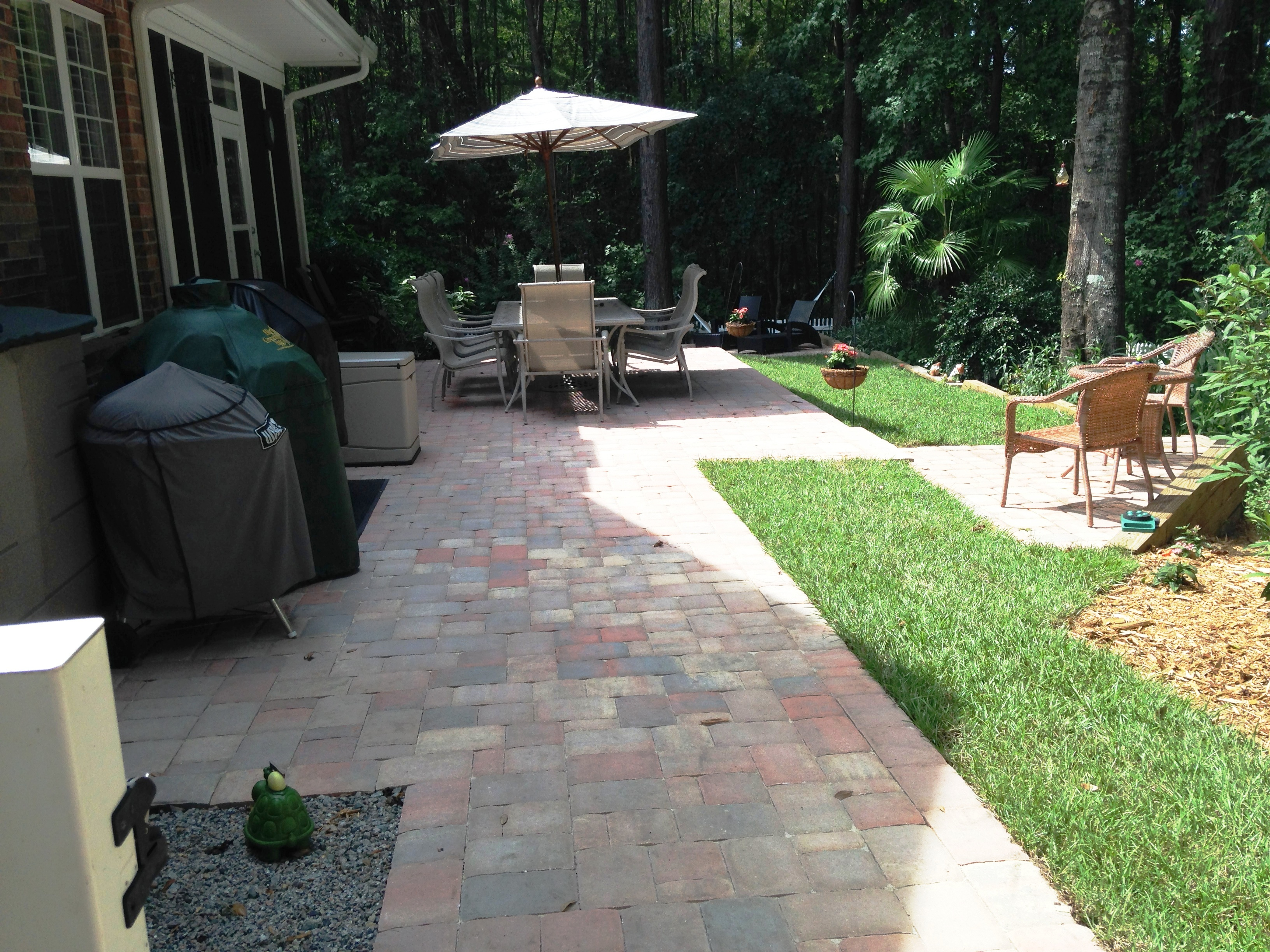 Belgard Paver Tile Overlay Expands Existing Concrete Patio In Murrells  Inlet, SC For Plenty Of Outdoor Entertaining